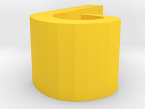Thumbtack Wire Clip in Yellow Processed Versatile Plastic