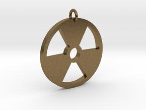 Radioactive Pendant in Natural Bronze