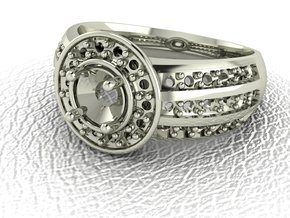 Classic Solitaire 15 NO STONES SUPPLIED in 14k White Gold
