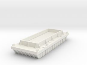 Barge to Create your own Theme N Scale in White Natural Versatile Plastic