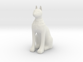 Egyptian Cat Goddess in White Natural Versatile Plastic