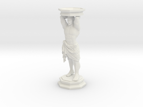 Column: Standing figure with base in White Natural Versatile Plastic