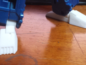 Classics Truck Leader Feet and Ankles (Tall) in White Processed Versatile Plastic