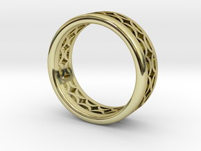 Cutout Band  M-007 in 18k Gold