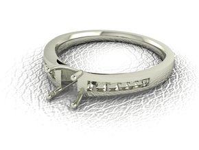 Classic Solitaire 16 NO STONES SUPPLIED in 14k White Gold