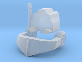Nautical Femmebot head (Clear FUD/FED parts) in Smoothest Fine Detail Plastic: Small