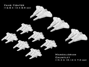 (Armada) Mandalorian Fighters Set I in Frosted Ultra Detail