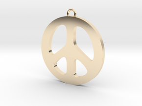 Peace Pendant in 14k Gold Plated Brass