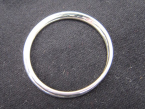 Ring Mobius facet in Polished Silver: 8.75 / 58.375