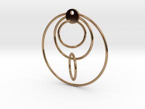 Loop Earring in Polished Brass (Interlocking Parts)