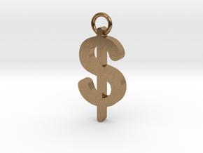 Dollar sign in Natural Brass