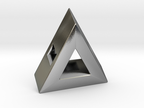 40 Degree ::: Triangle Pendant ::: v.01 in Polished Silver