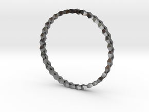 Spirală Bangle in Polished Silver: Small