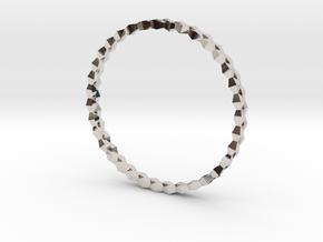Spirală Bangle in Platinum: Small