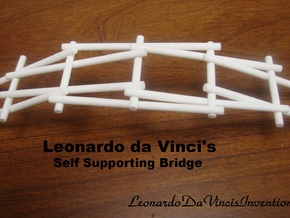 Leonardo da Vinci's Self Supporting Bridge in White Processed Versatile Plastic