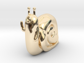 Adventure Time Lich Snail in 14K Yellow Gold: Small