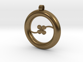 Ring Pendant - Clover in Natural Bronze