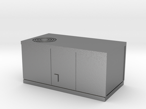 HO scale rooftop air conditioning unit in Natural Silver