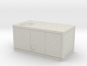 HO scale rooftop air conditioning unit in Full Color Sandstone