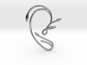 Ear Cuff of Belle (Right Ear) in Fine Detail Polished Silver