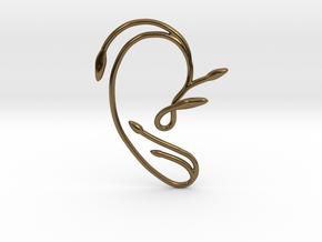 Ear Cuff of Belle (Right Ear) in Polished Bronze