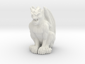 Gargoyle Statue in White Strong & Flexible