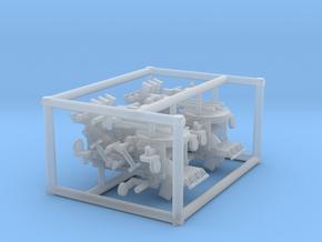 4 X 1/144 IJN Type 96 25mm Triple Mount in Smooth Fine Detail Plastic