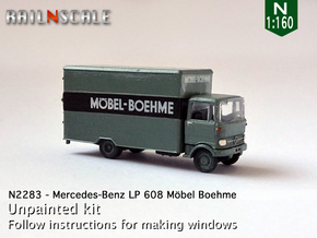 Mercedes-Benz LP 608 Koffer (N 1:160) in Smooth Fine Detail Plastic