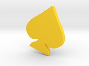 K SPADE DASH BOARD EMBLEM  in Yellow Processed Versatile Plastic: Medium