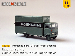 Mercedes-Benz LP 608 Koffer (TT 1:120) in Smooth Fine Detail Plastic