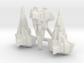 WFC Seeker Squadron, Broadside Scaled in White Natural Versatile Plastic: Small
