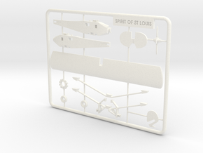 Spirit of St. Louis Puzzle Model in White Strong & Flexible Polished
