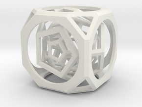 Hollow Seal in White Natural Versatile Plastic: Small