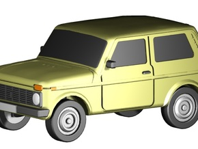 Lada Niva (Z,1:220) in Smooth Fine Detail Plastic