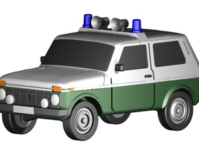Lada Niva Polizei (Z, 1:220) in Frosted Ultra Detail