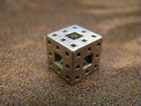 Menger Sponge Pendant in 14k Rose Gold Plated Brass