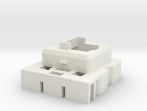 Topre to MX 6.25u Stabilizer Housing (Right) in White Natural Versatile Plastic