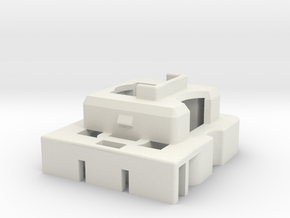 Topre to MX 6.25u Stabilizer Housing (Left) in White Natural Versatile Plastic