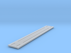 Heavyweight flatcar - 68 foot - Nscale in Smooth Fine Detail Plastic