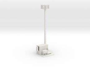 Cell Tower Site Parted 1-87 HO Scale in White Natural Versatile Plastic