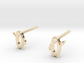 Penguin high five in 14k Gold Plated Brass
