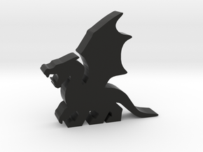 Game Piece, Dragon, Wings Flapping in Black Strong & Flexible