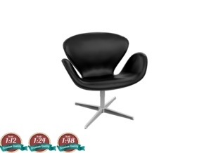 Miniature Swan Lounge Chair - Arne Jacobsen  in White Strong & Flexible: 1:24