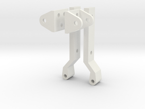 Jeep YJ trunk  hinges (fold down) in White Natural Versatile Plastic