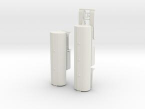 000422 USA Fuel B Double Trailer HO in White Natural Versatile Plastic: 1:87 - HO