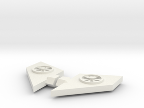 Blurr Add-on Wings in White Natural Versatile Plastic