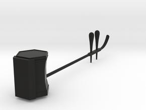 Keychain: Erhu in Black Natural Versatile Plastic