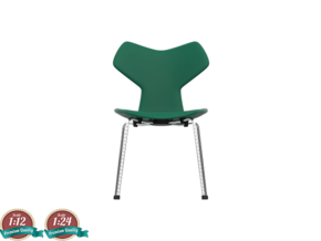 Miniature Grand Prix Chair - Arne Jacobsen  in White Strong & Flexible: 1:24