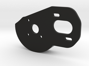 V2 Motor Plate w/Spur Guard in Black Natural Versatile Plastic