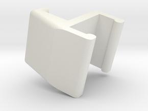 3D Glasses Clip in White Natural Versatile Plastic